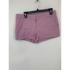 New j crew chino lilac purple shorts 6